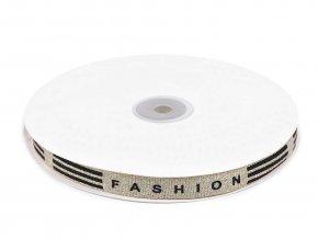 Lampas / oděvní stuha s lurexem Fashion šíře 15 mm