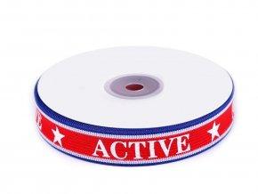 Lampas / oděvní stuha Active šíře 22 mm