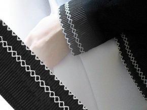 Prýmek plisovaný vyšívaný šíře 65 mm