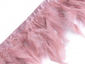 Prýmek - krůtí peří šíře 12 cm