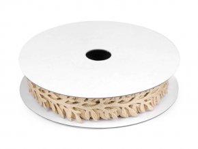 Saténový prýmek šíře 24 mm větvička s lurexem