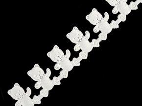 Saténový prýmek šíře 20 mm medvídek