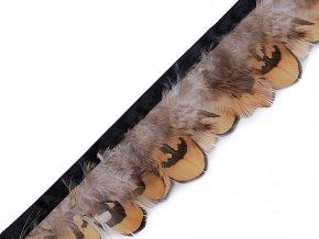 Prýmek bažantí peří šíře 55 mm