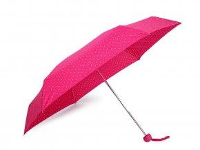 Skládací mini deštník s puntíky