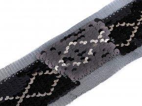 Flitrový prýmek / vsadka na monofilu šíře 40 mm