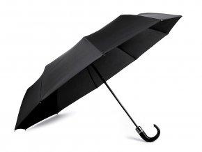 Pánský skládací vystřelovací deštník s koženou rukojetí