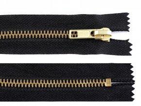 Kovový / mosazný zip šíře 6 mm délka 10 cm