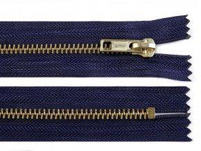 Kovový / mosazný zip šíře 6 mm délka 16 cm
