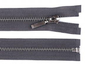 Kovový / mosazný zip šíře 6 mm délka 75 cm