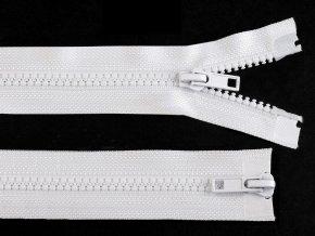 Zip kostěný 5 mm dělitelný 2 jezdce 80 cm bundový