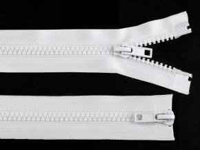 Zip kostěný 5 mm dělitelný 2 jezdce 100 cm bundový