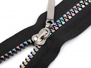 Duhový kostěný zip šíře 5 mm délka 40 cm