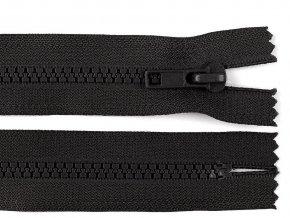 Zip kostěný šíře 5 mm délka 18 cm černý