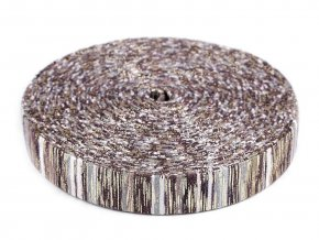 Lampas / prýmek s lurexem šíře 25 mm