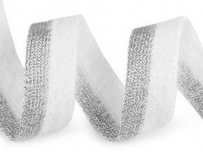 Lampas / prýmek plyšový s lurexem šíře 22 mm