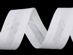 Šikmý proužek bavlněný šíře 30 mm zažehlený