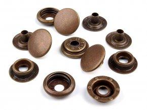 Kovové druky Ø15 mm (AM6) - sypané staromosazné