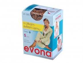 Silonové ponožky 20 den 5 párů Evona