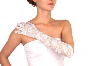 Dlouhé společenské rukavice krajkové