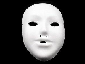 Maska na obličej dětská k domalování