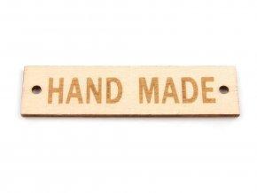 Dřevěná cedulka 13x50 mm