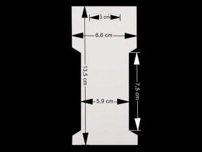 Papírová karta 6,6x13,5 cm