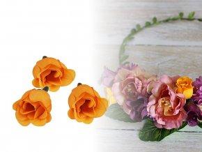 Umělý květ růže Ø25 mm