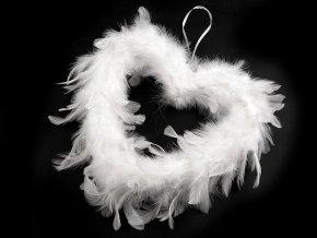 Dekorace srdce z peří