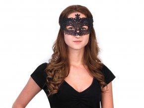 Karnevalová maska - škraboška s glitry