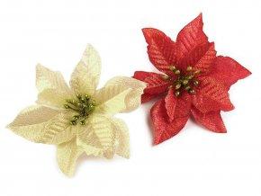 Vánoční hvězda Ø14 cm s lurexem