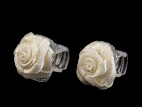 Skřipec do vlasů malý 10x13-15 mm s růžičkou