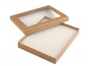 Krabička s průhledem polstrovaná 16x19,5 cm