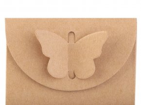 Papírová krabička natural s motýlem