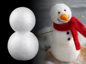Sněhulák 6,7x11,5 cm polystyren