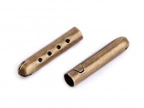 Kovová koncovka na šňůrky 4,5x22 mm