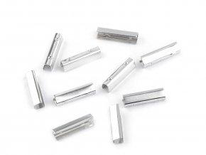 Kovová koncovka / spojka na šňůrky a gumičky 5x20 mm