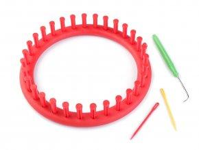 Plastový rámeček na pletení tunelů, šál, čepic Ø19 cm