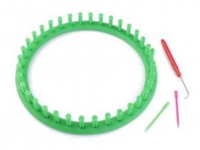 Plastový rámeček na pletení tunelů, šál, čepic Ø24 cm
