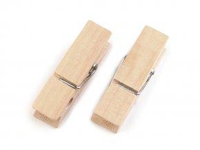 Dřevěný kolíček jednobarevný 11x45 mm