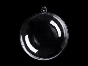 Plastová krabička koule Ø10 cm dvoudílná
