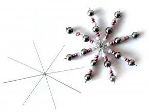 Hvězda / vločka drátová šablona Ø10 cm