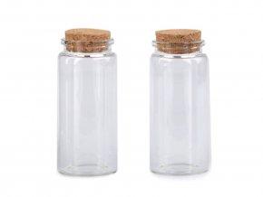 Skleněná lahvička s korkem 47x100 mm