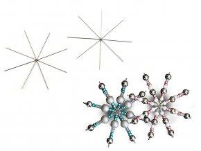 Vánoční hvězda / vločka drátová šablona Ø9 cm