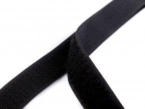 Suchý zip háček + plyš šíře 20 mm černý