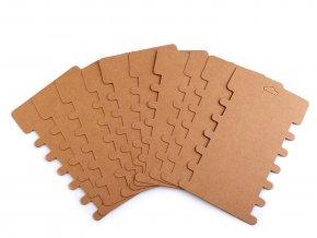 Papírová karta natural 8,6x14,4 cm s výřezy