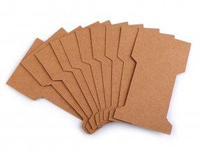 Papírová karta natural 6,6x11,5 cm s výřezem