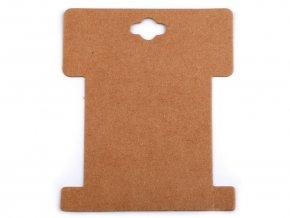 Papírová karta natural 8,6x10,2 cm s výřezem