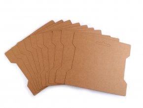 Papírová karta natural 14x16,3 cm s výřezem