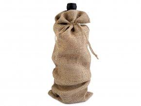 Vánoční dárkový pytlík na láhev 15x44 cm jutový