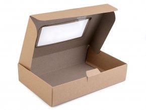 Papírová krabice s průhledem